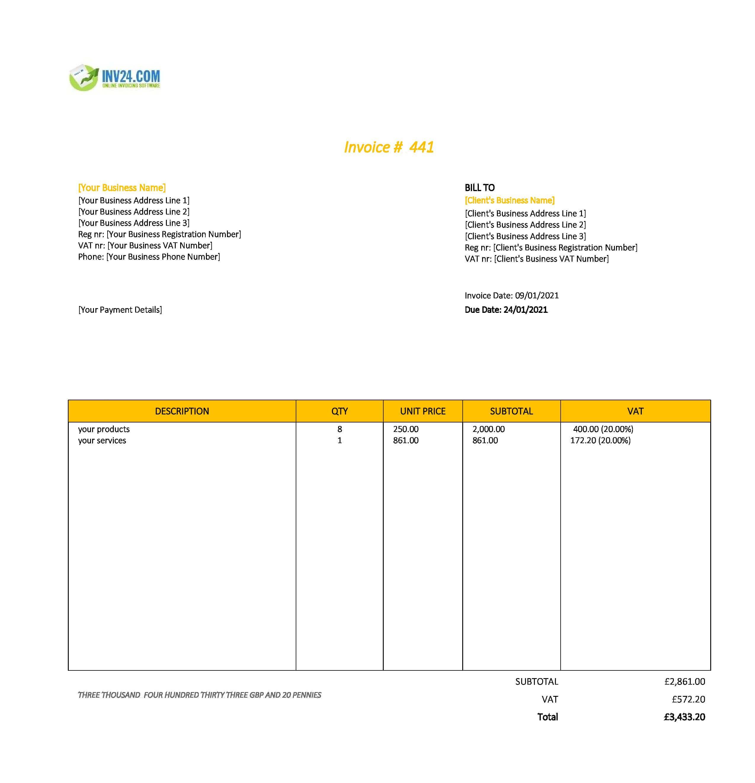 best invoice template uk
