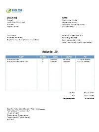 izgled računa (fakture) za paušalni obrt