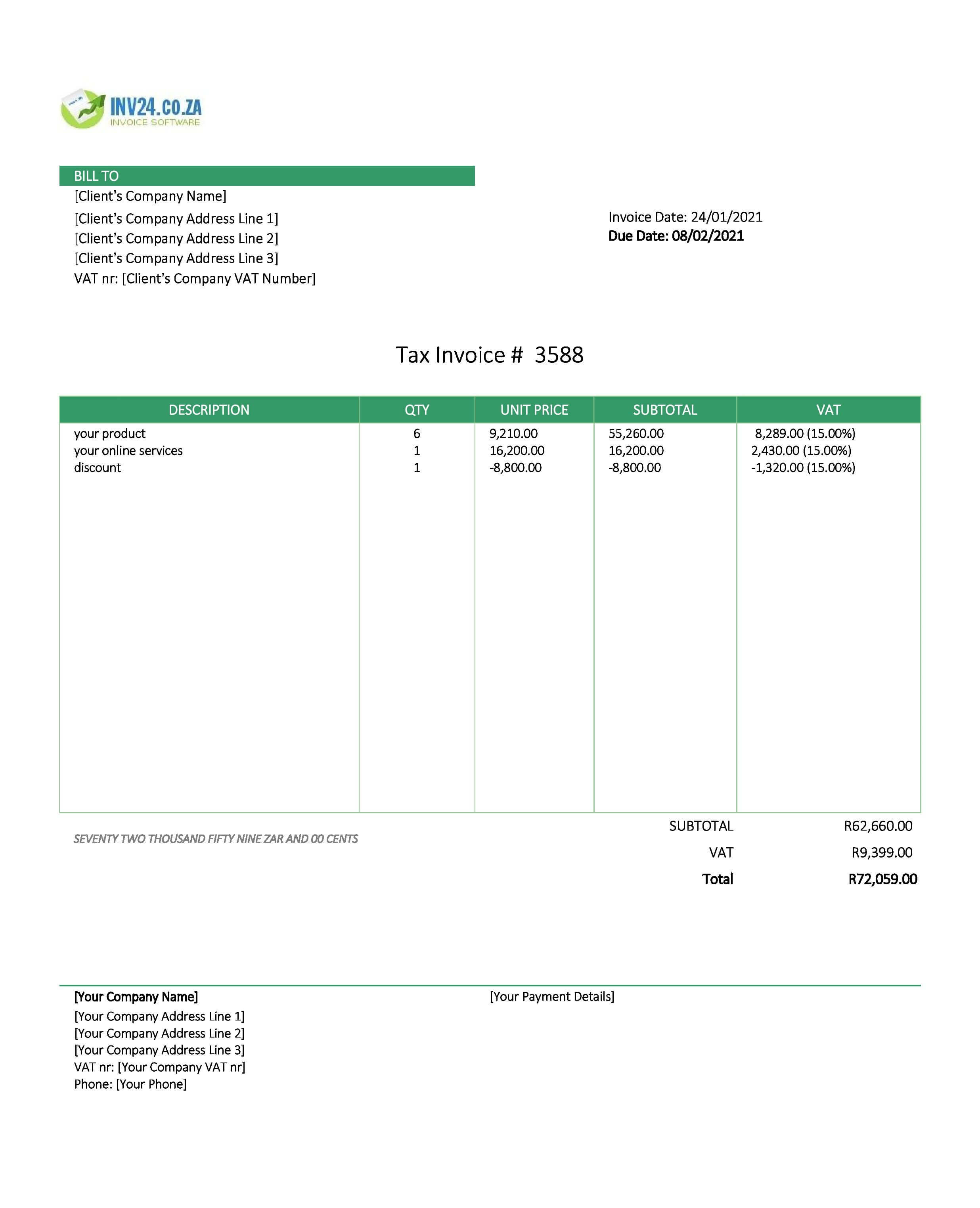 online invoice south africa