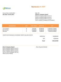 basic invoice template south africa