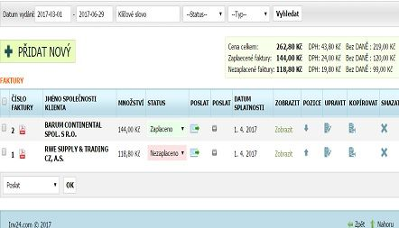 PROGRAM NA FAKTURY ONLINE SCREENSHOT 1