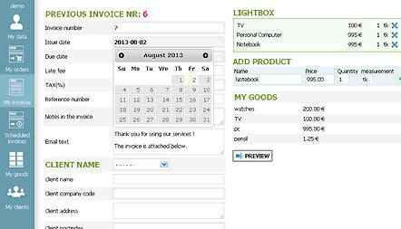 FREE INVOICE SOFTWARE SCREENSHOT 2