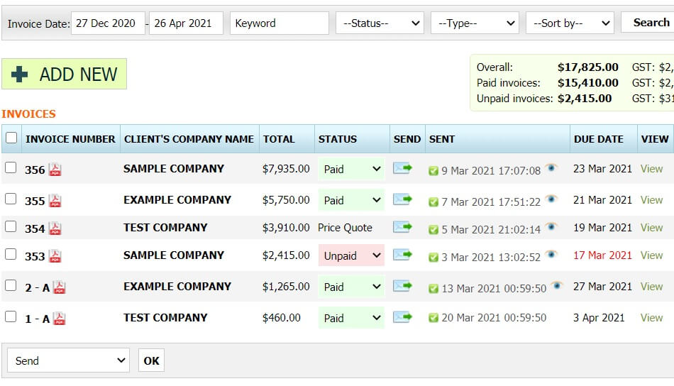 Invoice Software for New Zealand 2