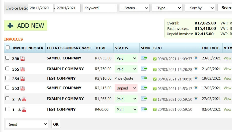 Invoice Software for South Africa 2