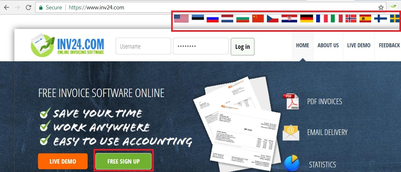 How to create invoices in English, French and other languages