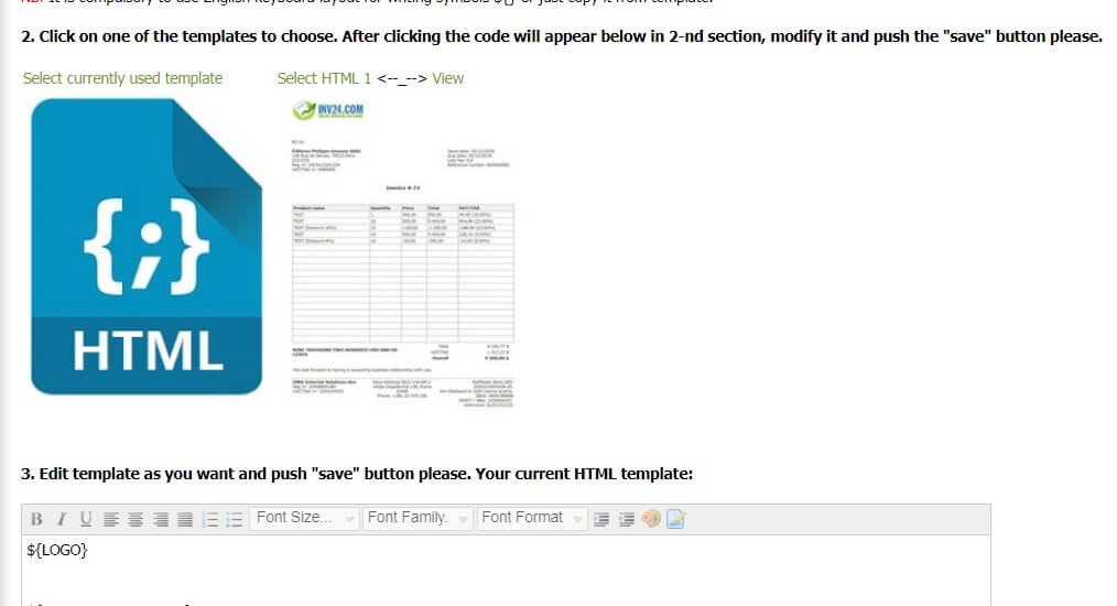 How to make your own custom invoice template