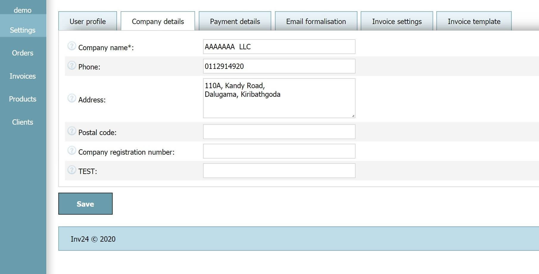 Simple Invoice Software Inv24